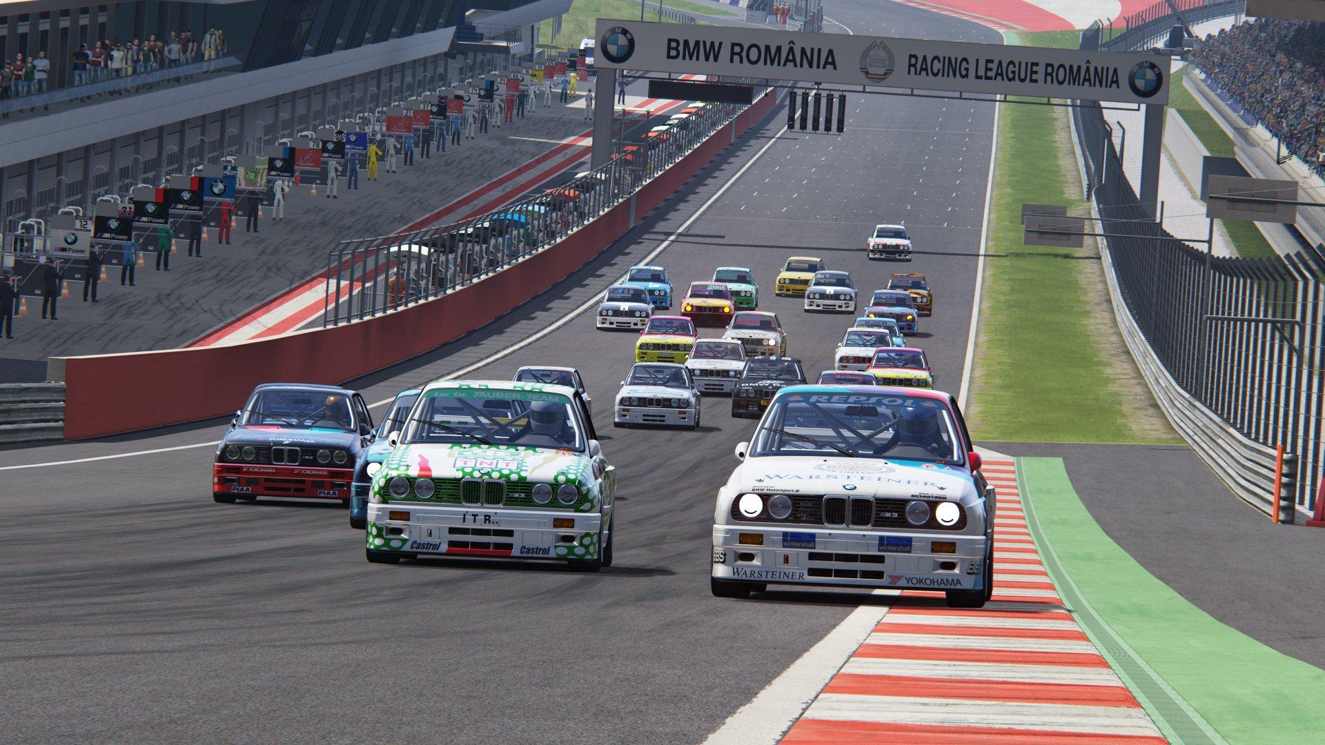 Кадър от състезание в румънски виртуален шампионат Racing League Romania
